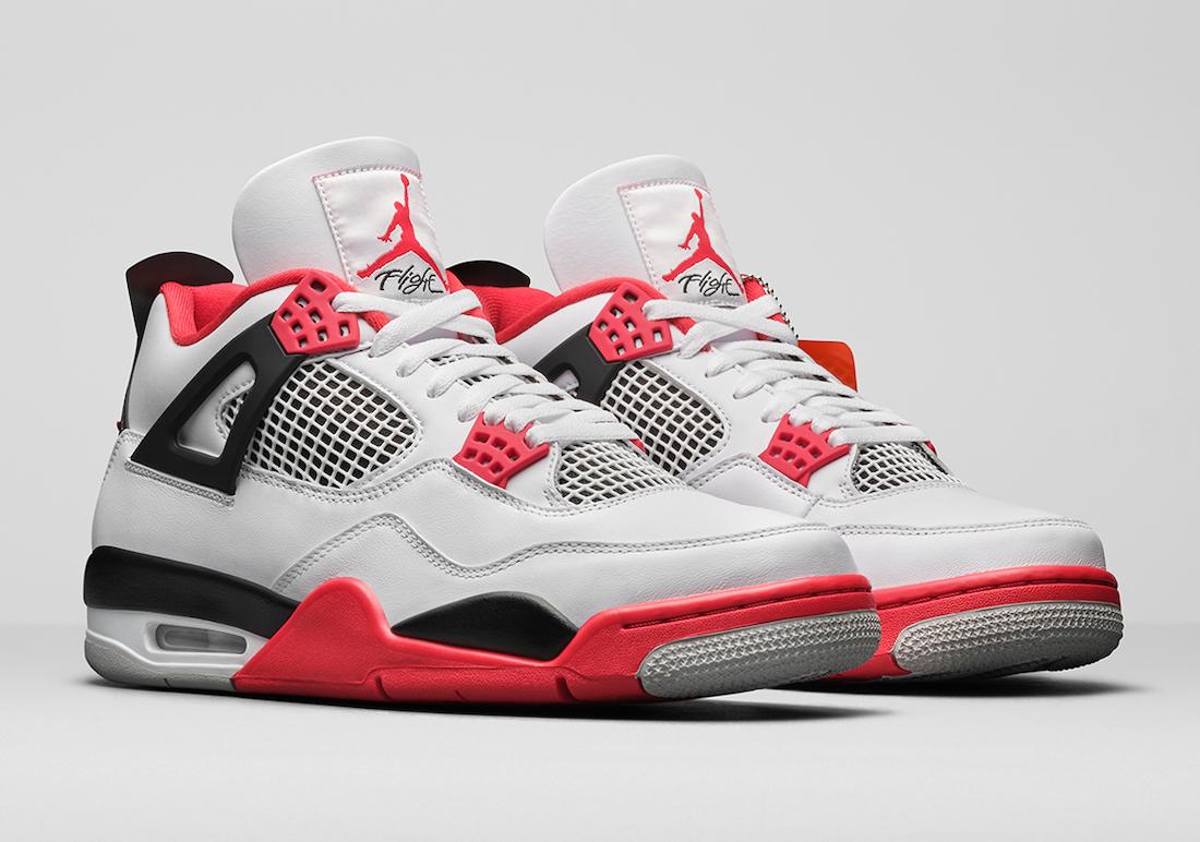 More Looks Air Jordan 4 Fire Red