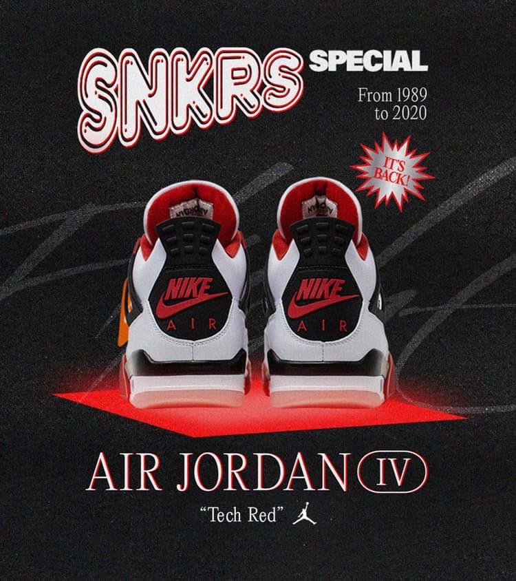 Air Jordan 4 Tech Red