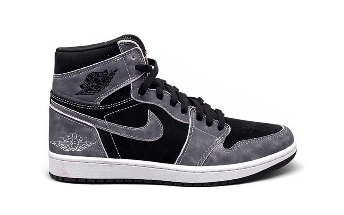AIR JORDAN 1 HIGH OG BLACK/LIGHT SMOKE GREY