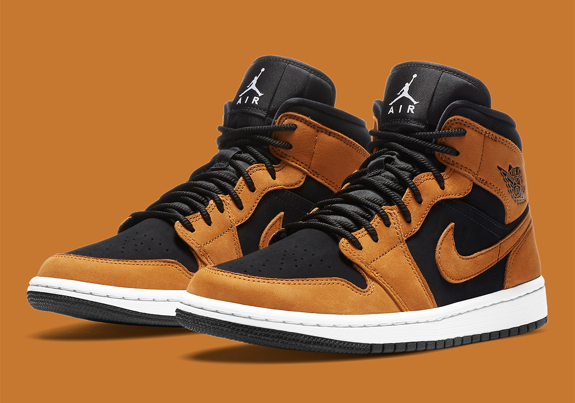 AIR JORDAN 1 MID WHEAT OFFICIAL LOOK