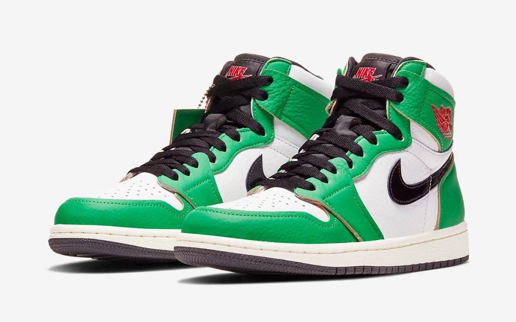 Air Jordan 1 High WMNS Lucky Green Official Look
