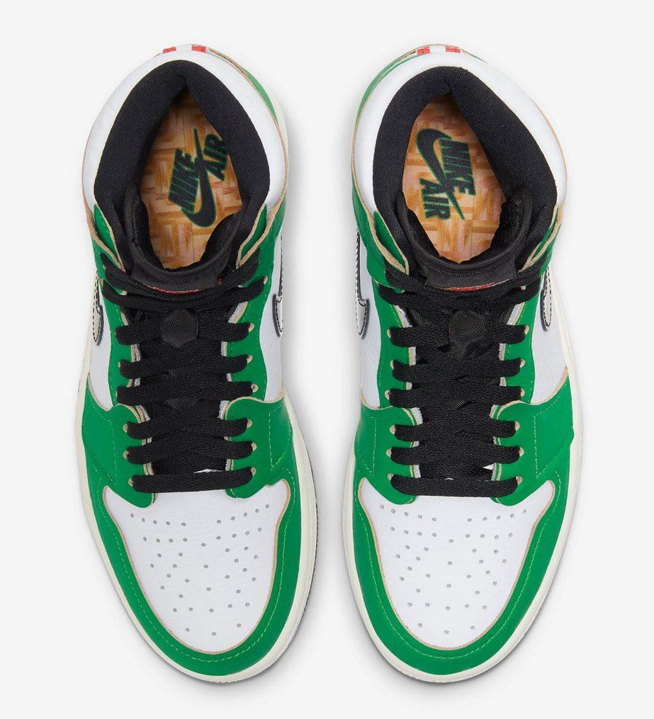 Air Jordan 1 High WMNS Lucky Green Official Look-4