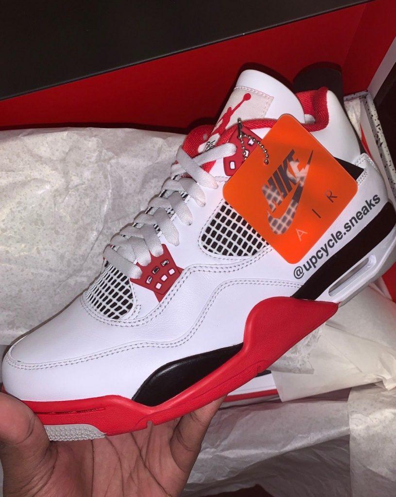 Air Jordan 4 Fire Red Better Look