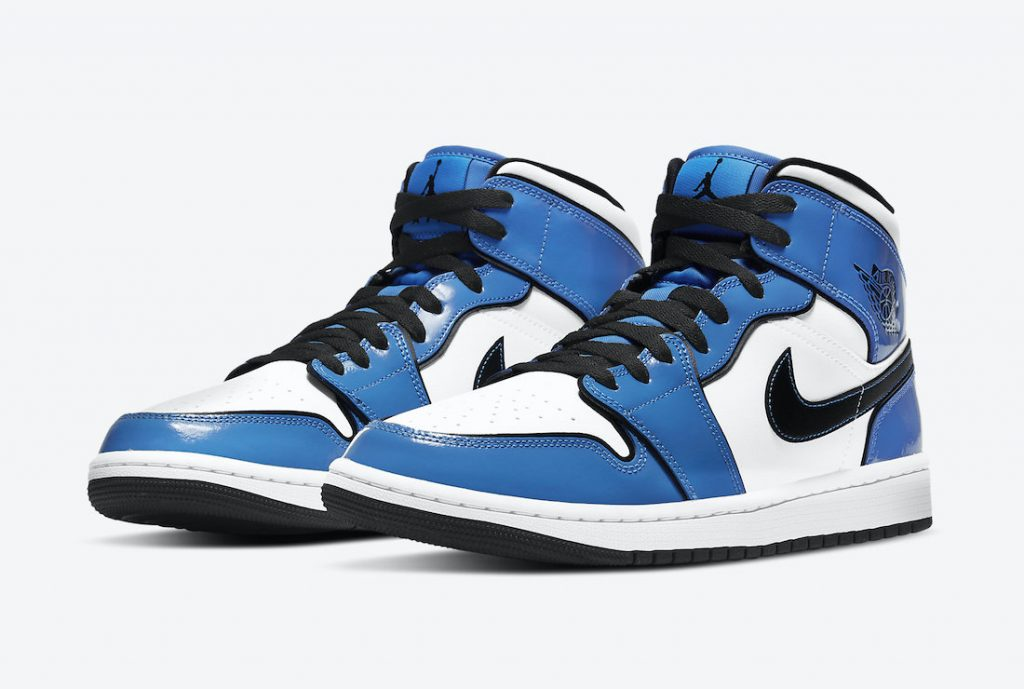 AIR JORDAN 1 MID SE SIGNAL BLUE OFFICIAL LOOK