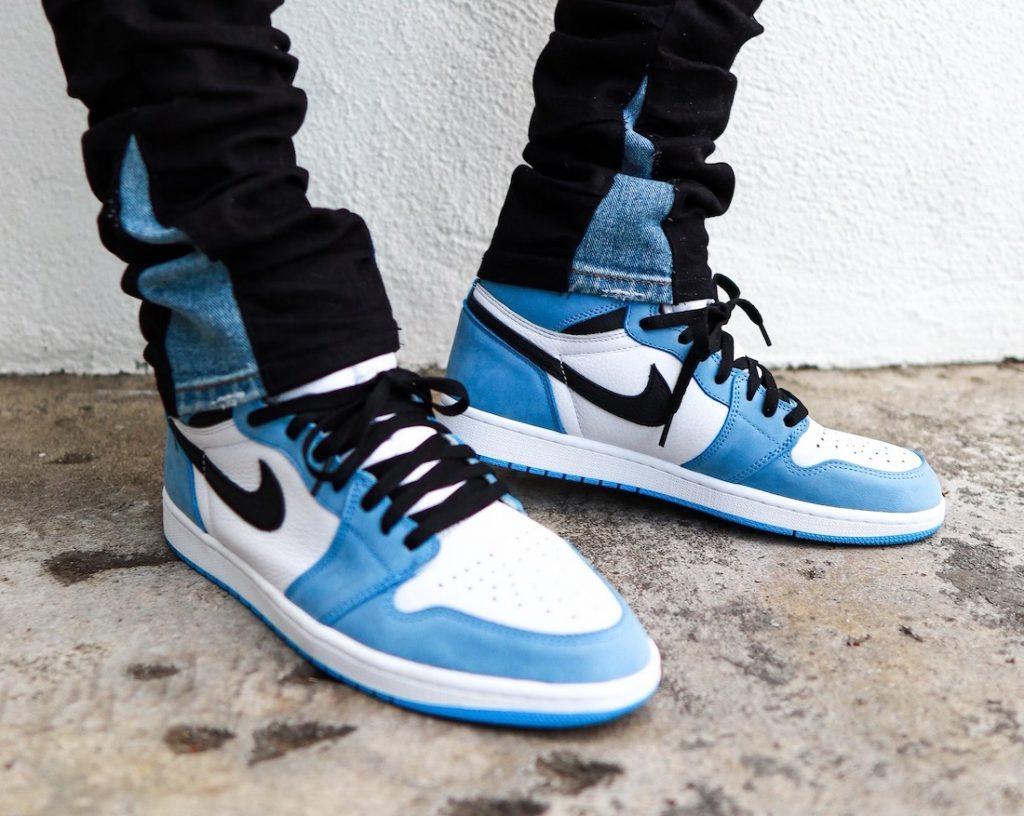 Air-Jordan-1-High-OG-University-Blue-555088-134-Release-Date-On-Feet-1