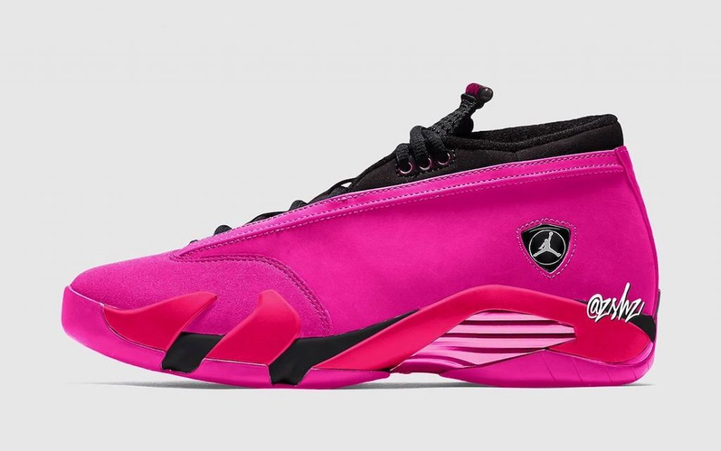 Air-Jordan-14-Low-WMNS-Shocking-Pink-Release-Date-Mock