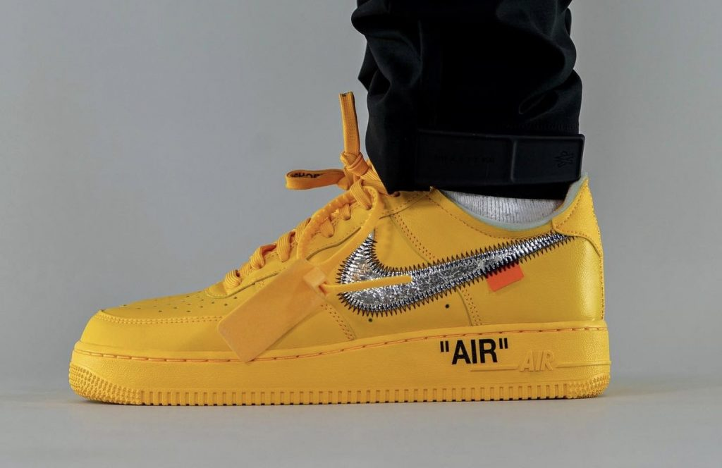 Off-White-x-Nike-Air-Force-1-Low-University-Gold-DD1876-700-Release-Date-On-Feet-1