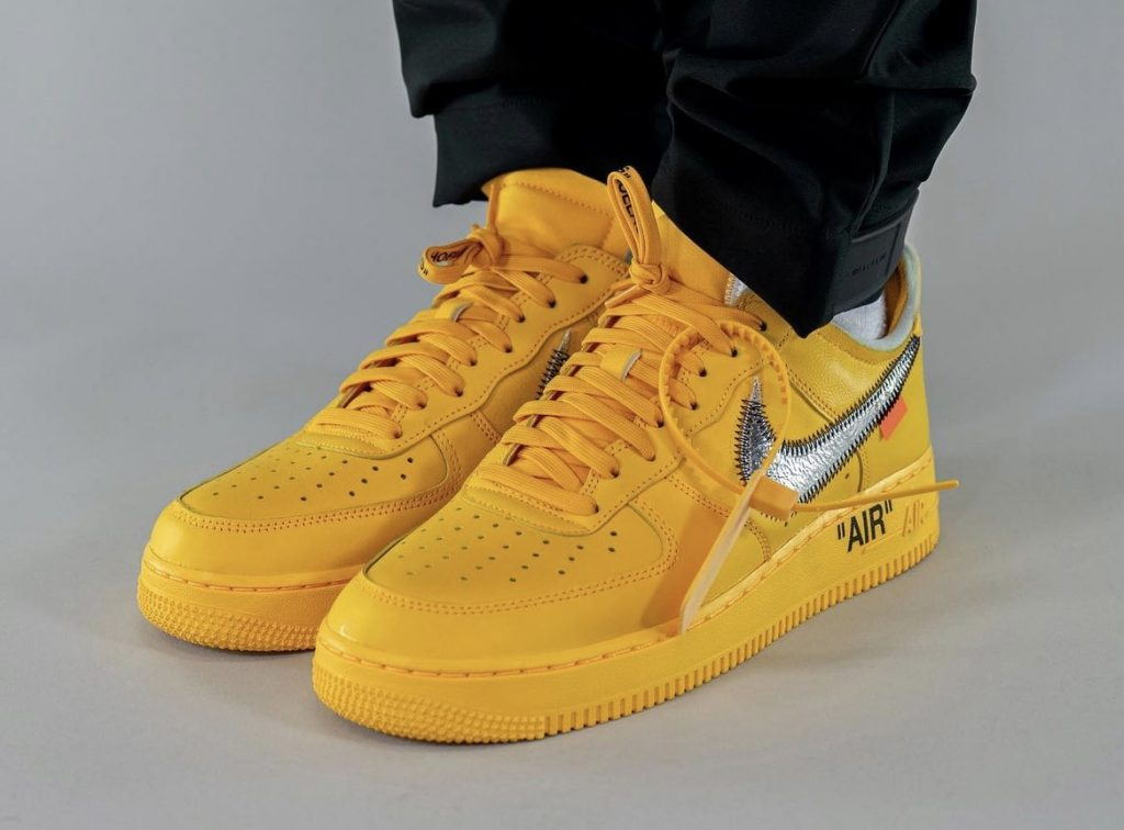 Off-White-x-Nike-Air-Force-1-Low-University-Gold-DD1876-700-Release-Date-On-Feet