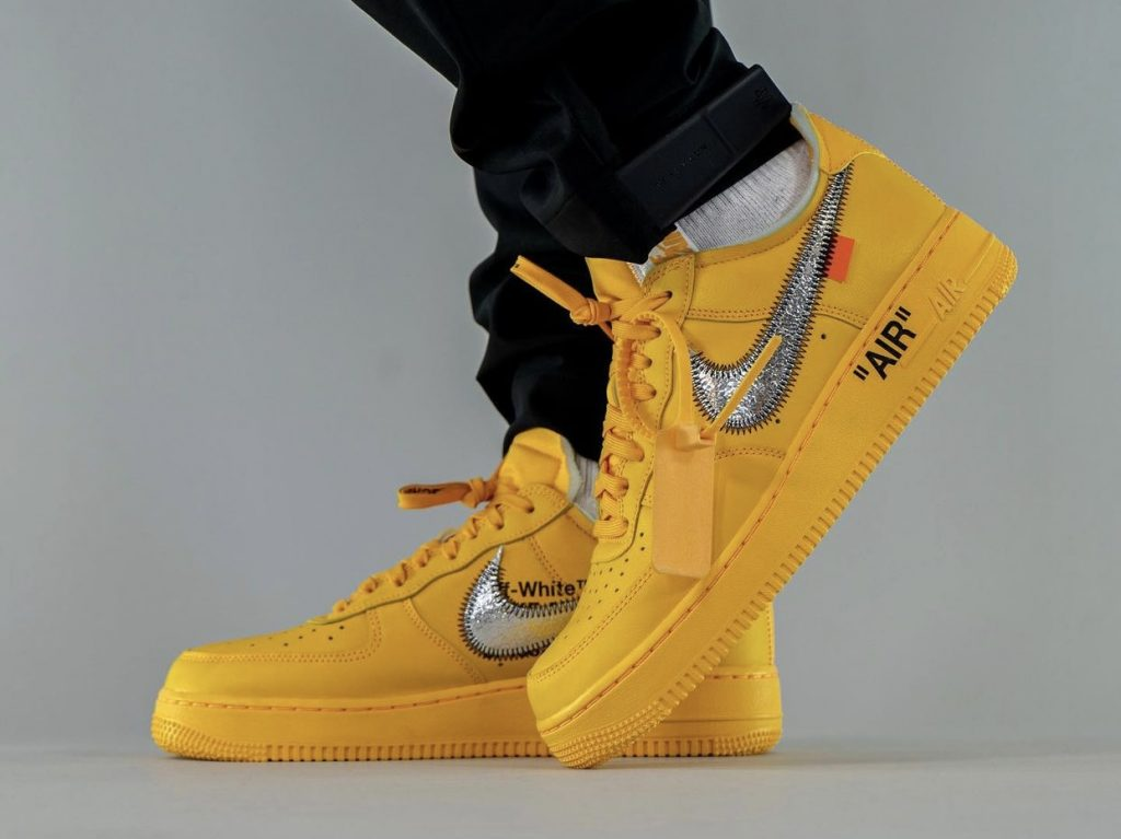 Off-White-x-Nike-Air-Force-1-Low-University-Gold-DD1876-700-Release-Date-On-Feet-2