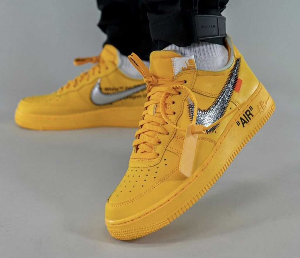 Off-White-x-Nike-Air-Force-1-Low-University-Gold-DD1876-700-Release-Date-On-Feet-4