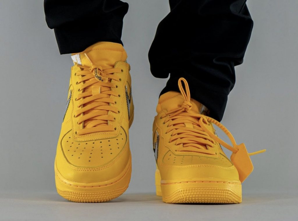 Off-White-x-Nike-Air-Force-1-Low-University-Gold-DD1876-700-Release-Date-On-Feet-6