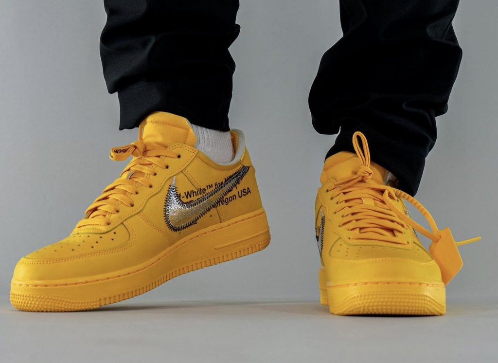 Off-White-x-Nike-Air-Force-1-Low-University-Gold-DD1876-700-Release-Date-On-Feet-7