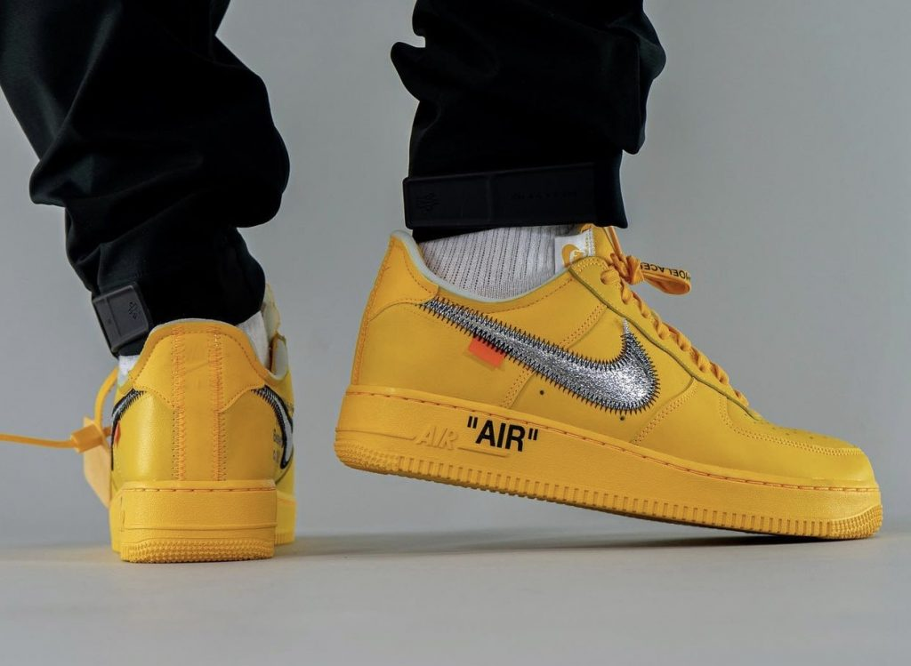Off-White-x-Nike-Air-Force-1-Low-University-Gold-DD1876-700-Release-Date-On-Feet-8