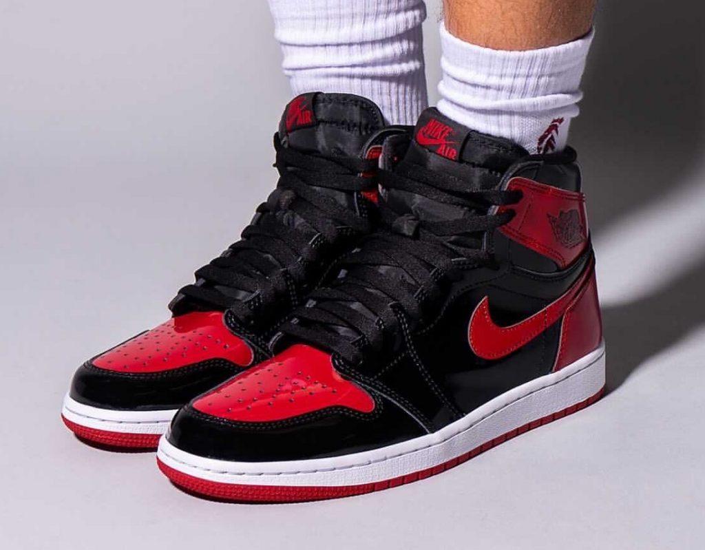 Air-Jordan-1-Bred-Patent-555088-063-Release-Date-On-Feet-1