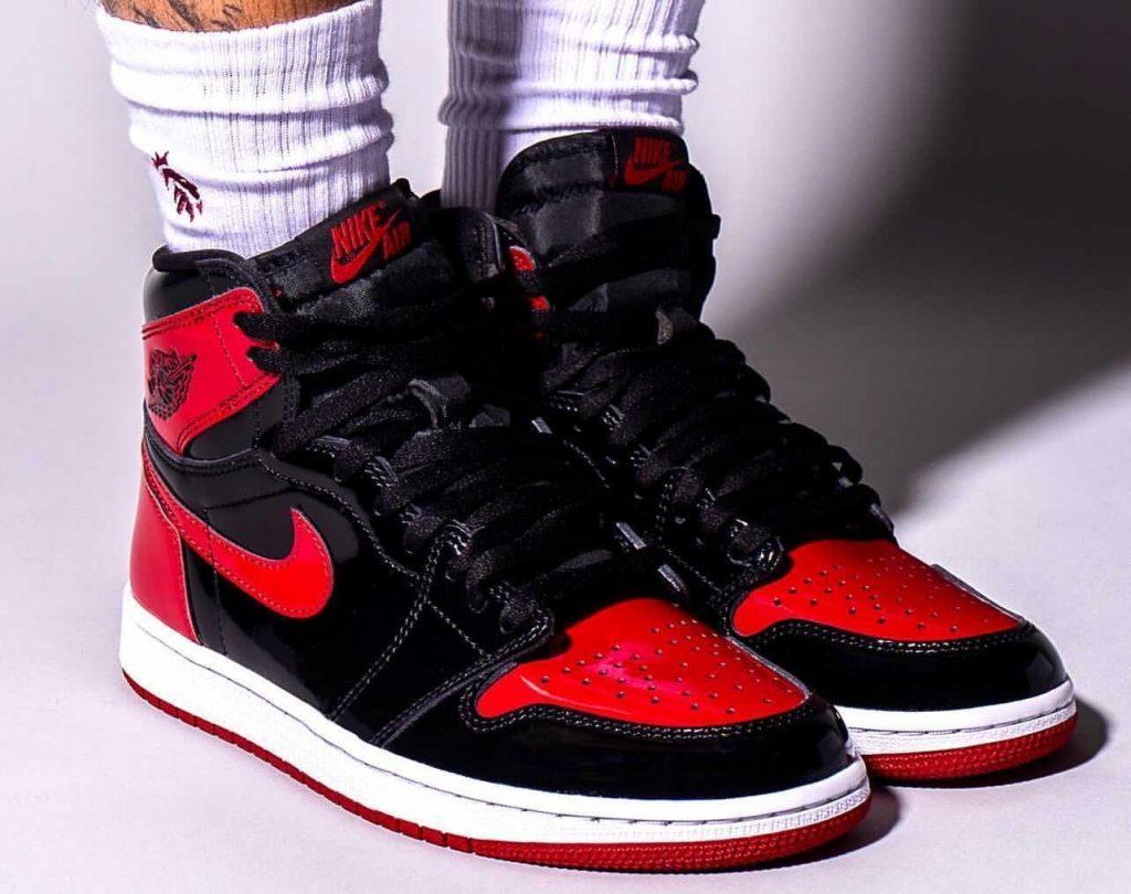 Air-Jordan-1-Bred-Patent-555088-063-Release-Date-On-Feet