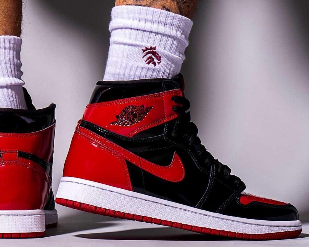 Air-Jordan-1-Bred-Patent-555088-063-Release-Date-On-Feet-6