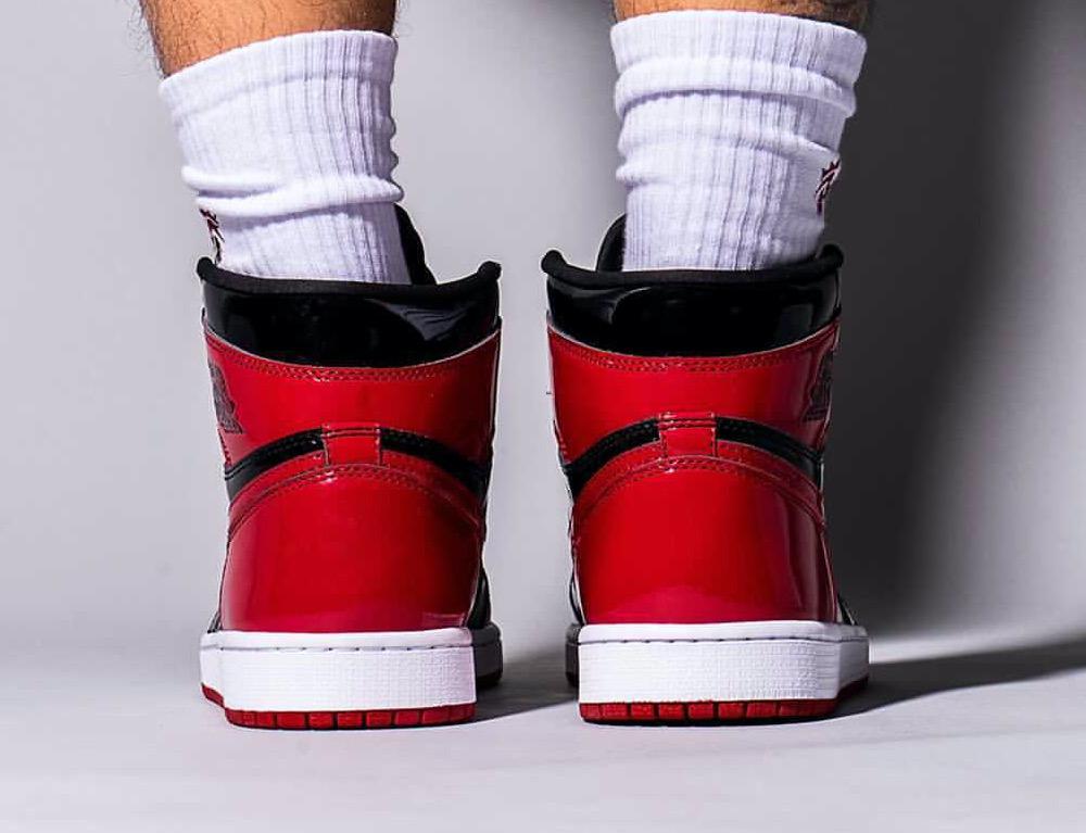 Air-Jordan-1-Bred-Patent-555088-063-Release-Date-On-Feet-8