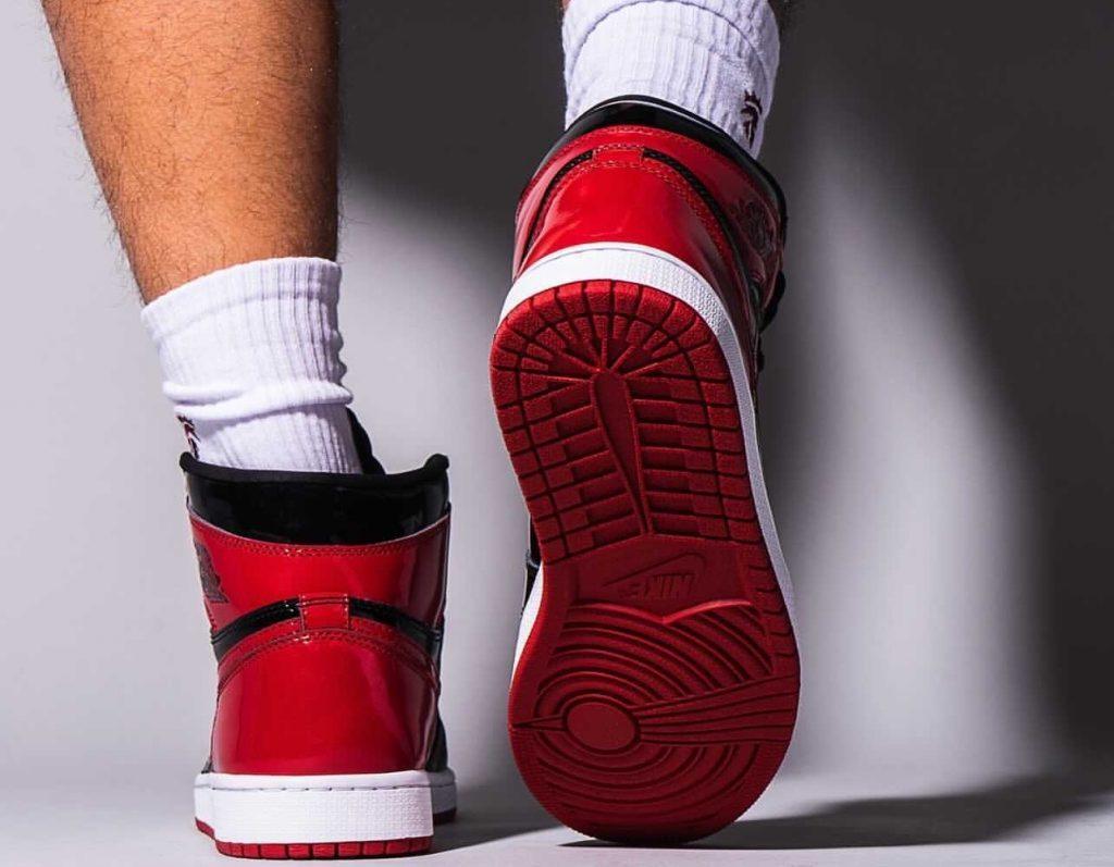 Air-Jordan-1-Bred-Patent-555088-063-Release-Date-On-Feet-9