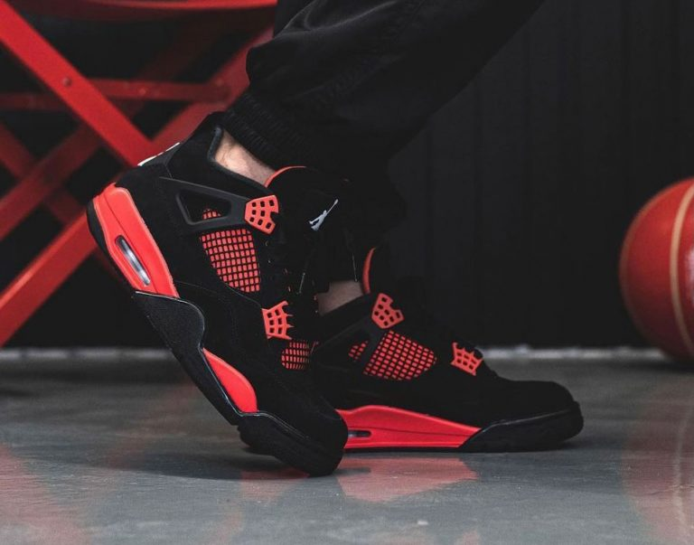 Air-Jordan-4-Red-Thunder-CT8527-016-On-Feet-1