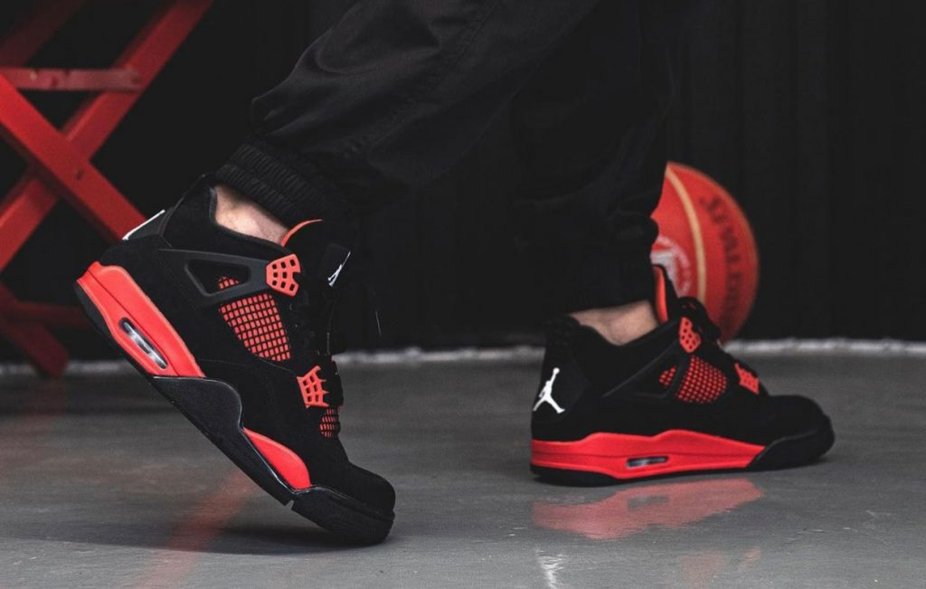 Air-Jordan-4-Red-Thunder-CT8527-016-On-Feet-2