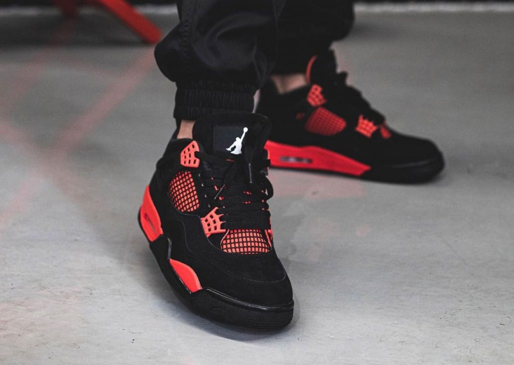 Air-Jordan-4-Red-Thunder-CT8527-016-On-Feet-3