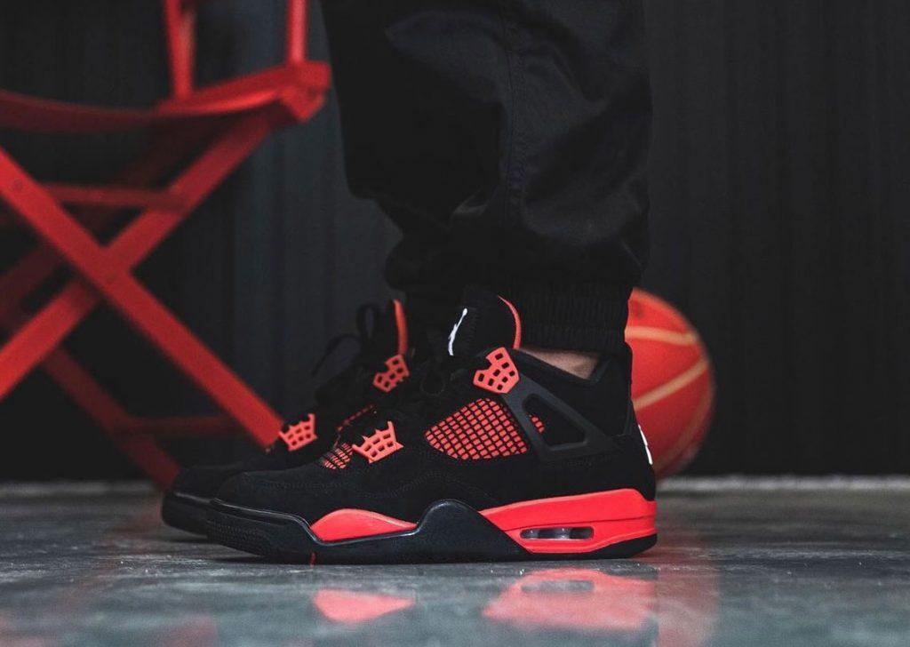 Air-Jordan-4-Red-Thunder-CT8527-016-On-Feet-4