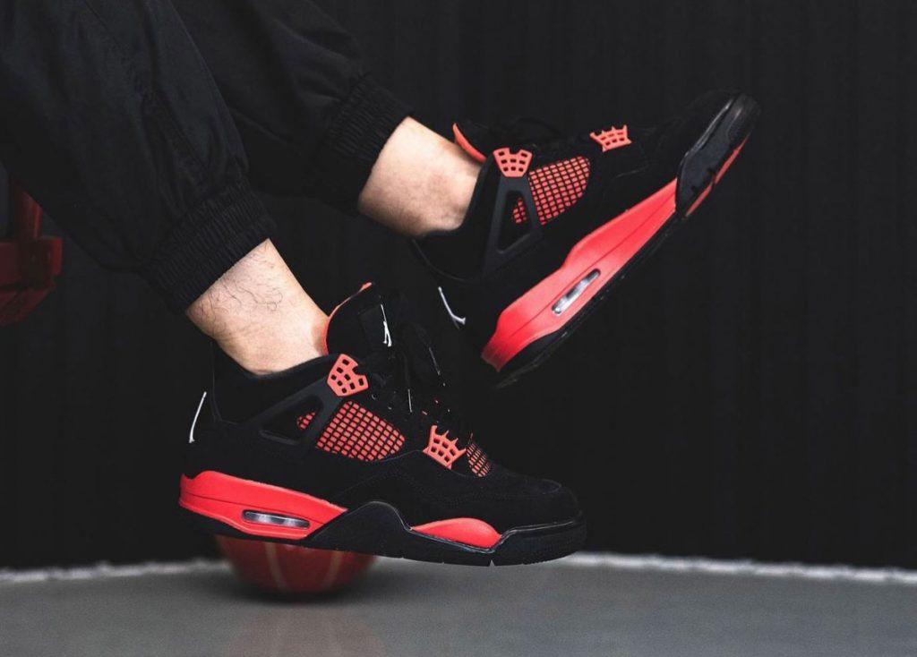 Air-Jordan-4-Red-Thunder-CT8527-016-On-Feet-5