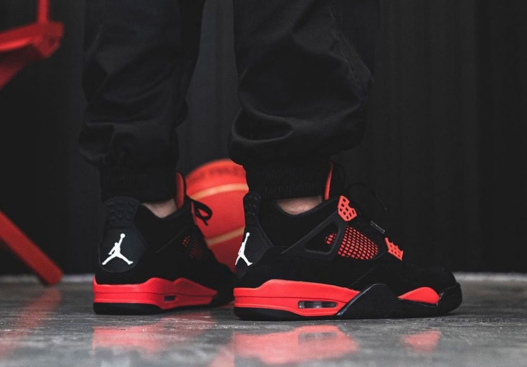 Air-Jordan-4-Red-Thunder-CT8527-016-On-Feet-6