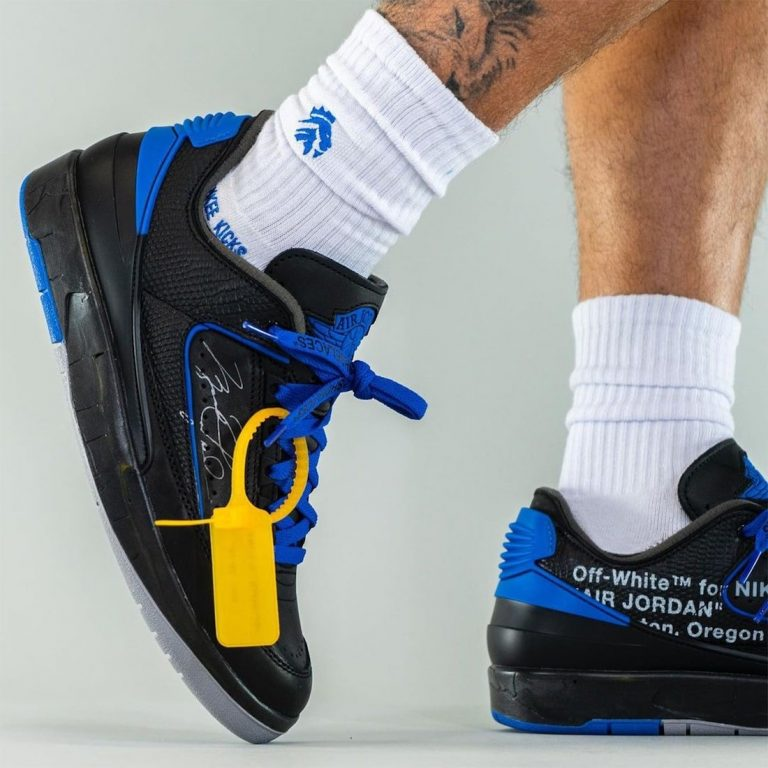 Off-White-Air-Jordan-2-Low-Black-Blue-DJ4375-004-Release-Date-On-Feet