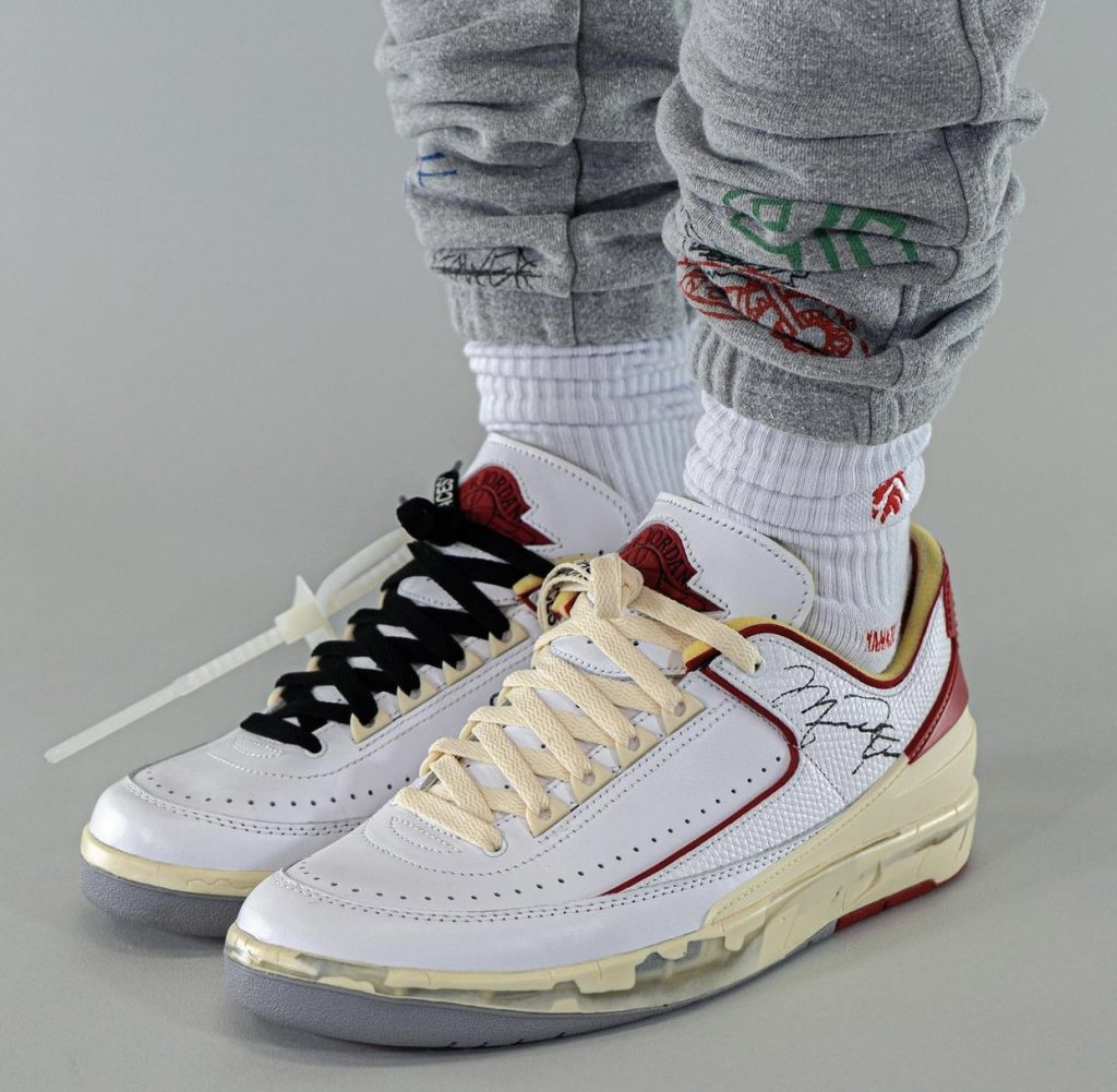 Off-White-Air-Jordan-2-Low-White-Red-DJ4375-106-Release-Date-On-Feet