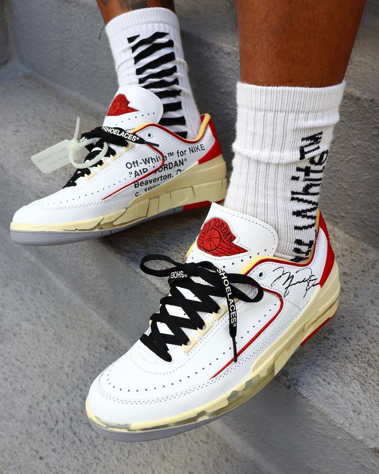 Off-White-Air-Jordan-2-Low-White-Red-DJ4375-106-On-Feet