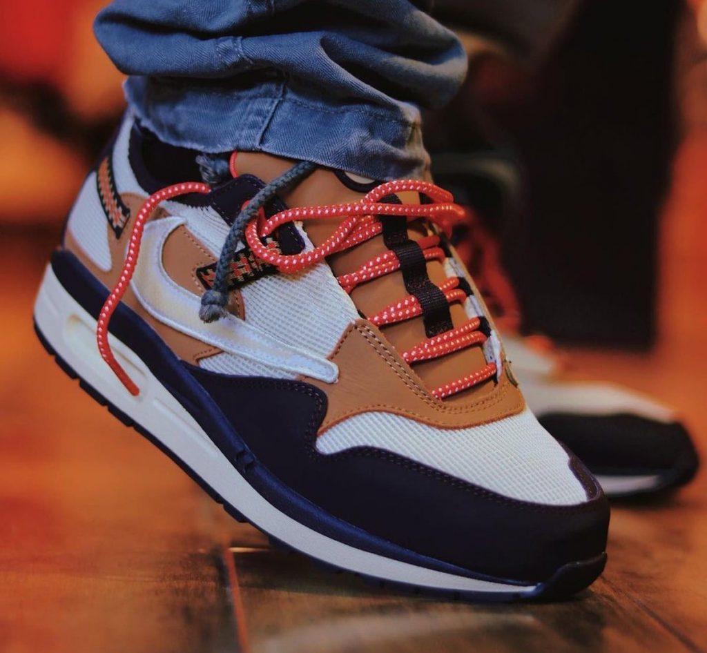 Travis-Scott-Nike-Air-Max-1-Baroque-Brown-On-Feet
